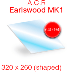 A.C.R Heat Products Earlswood MK1 (Shaped) Stove Glass - 342mm x 260mm