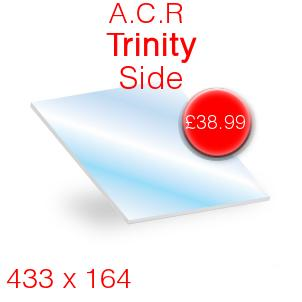 A.C.R Heat Products Trinity 3 Side Stove Glass - 433mm x 164mm