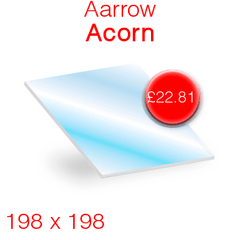 Aarrow Acorn Stove Glass - 198mm x 198mm
