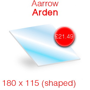 Aarrow Arden Stove Glass - 180mm x 115mm (shaped)