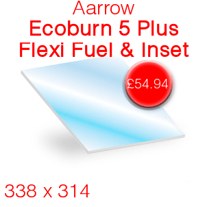 Aarrow Ecoburn 5 Plus Flexi Fuel & Inset Stove Glass - 338mm x 314mm
