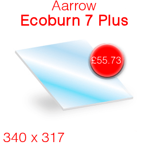 Aarrow Ecoburn 7 Plus Stove Glass - 340mm x 317mm
