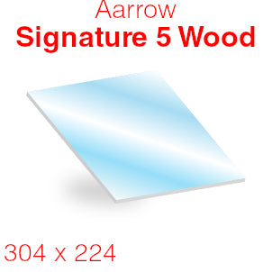 Aarrow Signature 5 Wood Inset (Series 2) Stove Glass - 304mm x 224mm (curved)