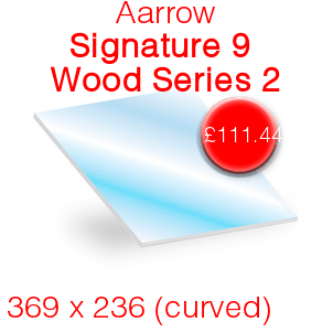 Aarrow Signature 9 Wood Series 2 (Curved) Stove Glass  - 369mm x 236mm