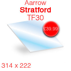 Aarrow Stratford Stove Glass - 314mm x 222mm