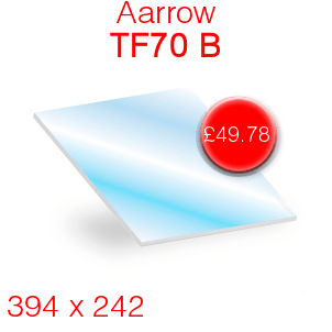 Aarrow TF70B Stove Glass - 394mm x 242mm