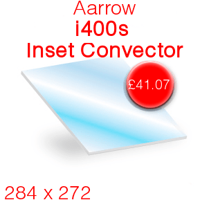 Aarrow i400S Stove Glass - Inset Convector - 284mm x 272mm
