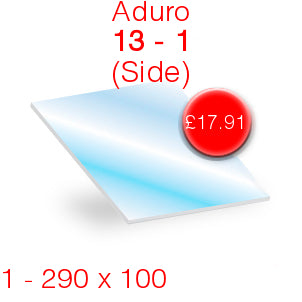Aduro 13 (Side) Stove Glass - 290mm x 100mm