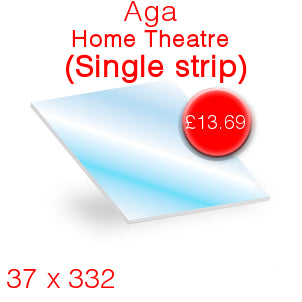 Aga Home Theatre (single strip) Stove Glass - 37mm x 332mm