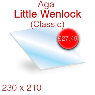 Aga Little Wenlock Classic Stove Glass - 230mm x 210mm