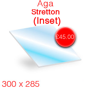 Aga Stretton Inset Stove Glass - 300mm x 285mm
