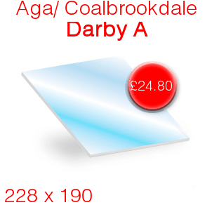Aga/Coalbrookdale Darby A Stove Glass - 228mm x 190mm
