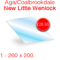 Aga/Coalbrookdale New Little Wenlock Stove Glass