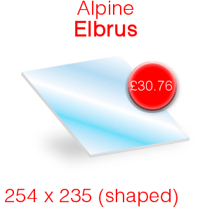 Alpine Elbrus Stove Glass - 254mm x 235mm (Shaped)