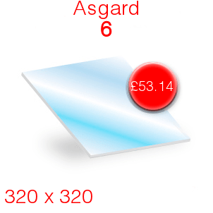 Asgard 6 Stove Glass - 320mm x 320mm