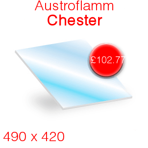 Austroflamm Chester Stove Glass - 490mm x 420mm