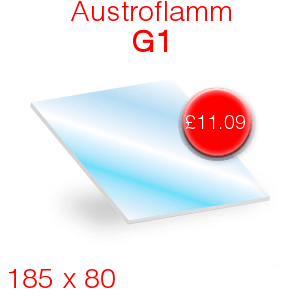 Austroflamm G1 Stove Glass - 185mm x 80mm
