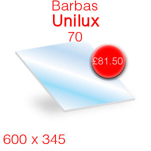 Barbas Unilux 70 Stove Glass - 600mm x 345mm