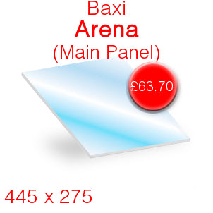 Baxi Arena (Main Panel) Stove Glass - 445mm x 275mm