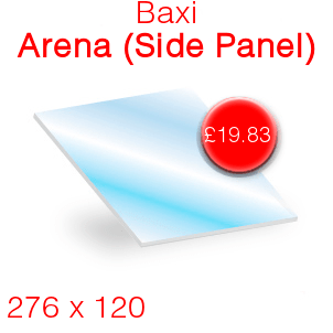 Baxi Arena (Side Panel) Stove Glass - 276mm x 120mm