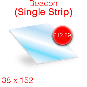 Beacon (single strip) Stove Glass - 38mm x 152mm