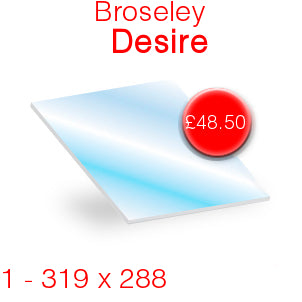 Broseley Desire Stove Glass - 319mm x 288mm