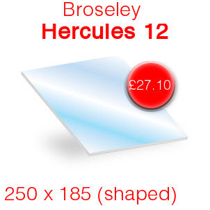Broseley Hercules 12 Stove Glass - 250mm x 185mm (shaped)