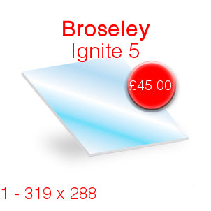 Broseley Ignite 5 Stove Glass - 319mm x 288mm