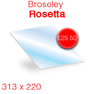 Broseley Rosetta Stove Glass - 313mm x 220mm