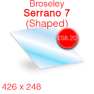 Broseley Serrano 7 Stove Glass - 426mm x 248mm (shaped)