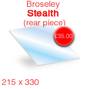 Broseley Stealth (Rear)  Stove Glass - 330mm x 215mm