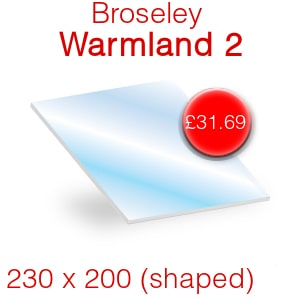Broseley Warmland 2 Stove Glass - 230mm x 200mm (shaped)