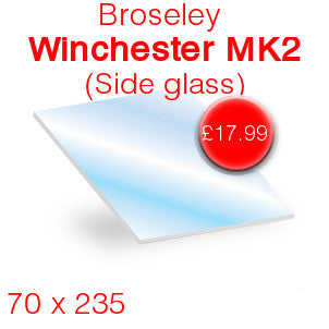 Broseley Winchester MK 2 (Side) Stove Glass - 70mm x 235mm