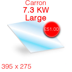Carron 7.3kW Large Stove Glass - 395mm x 275mm
