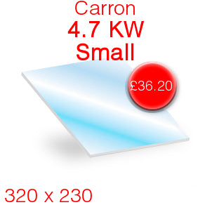 Carron 4.7kW Small Stove Glass - 320mm x 230mm