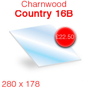 Charnwood Country 16B Stove Glass - 278mm x 178mm