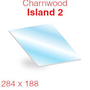 Charnwood Island 2 Stove Glass - 284mm x 188mm (curved)