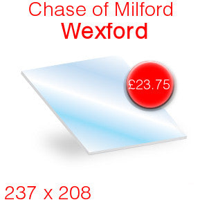 Chase of Milford Wexford Stove Glass - 237mm x 208mm