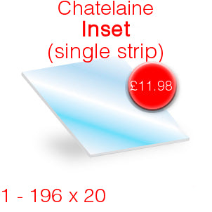 Chatelaine Inset (single strip) Stove Glass - 196mm x 20mm