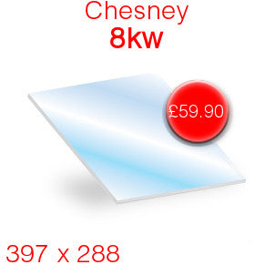 Chesneys 8kW Stove Glass - 397mm x 288mm