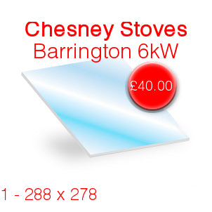 Chesneys Barrington 6kW Stove Glass - 288mm x 278mm