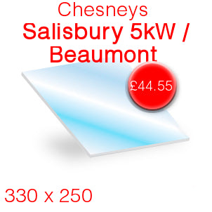 Chesneys Salisbury 5kW / Beaumont Stove Glass - 330mm x 250mm