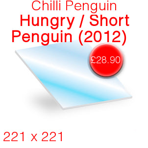 Chilli Penguin Hungry / Short Penguin (Pre 2012) Stove Glass - 221mm x 221mm