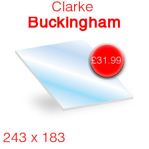 Clarke Buckingham Stove Glass - 243mm x 183mm