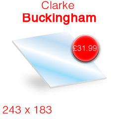 Clarke Buckingham replacement stove glass