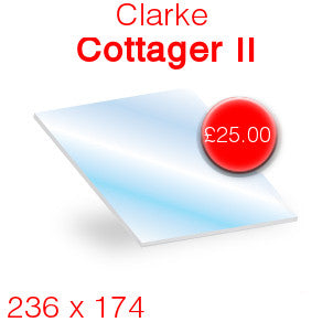 Clarke Cottager II Stove Glass - 236 x 174mm