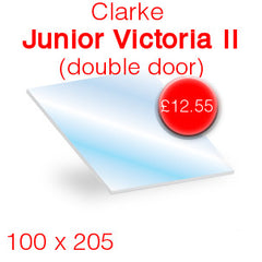 Clarke Junior Victoria II stove glass (double door)