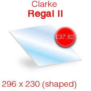 Clarke Regal II Stove Glass - 296mm x 230mm (shaped)