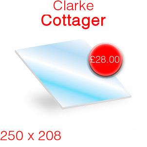 Clarke Cottager Stove Glass - 250mm x 208mm
