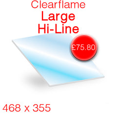 Clearflame Large Hi-Line Stove Glass